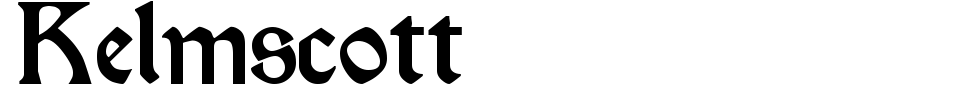 Vista previa - Fuente Kelmscott