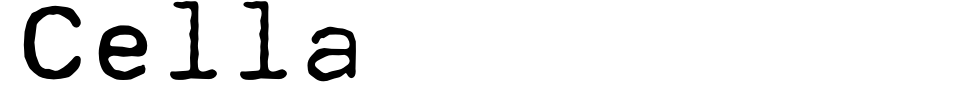 Cella Font Preview