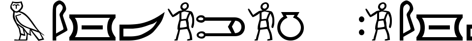 Meroitic Hieroglyphics Font Preview