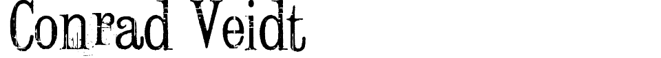 Anteprima - Font Conrad Veidt
