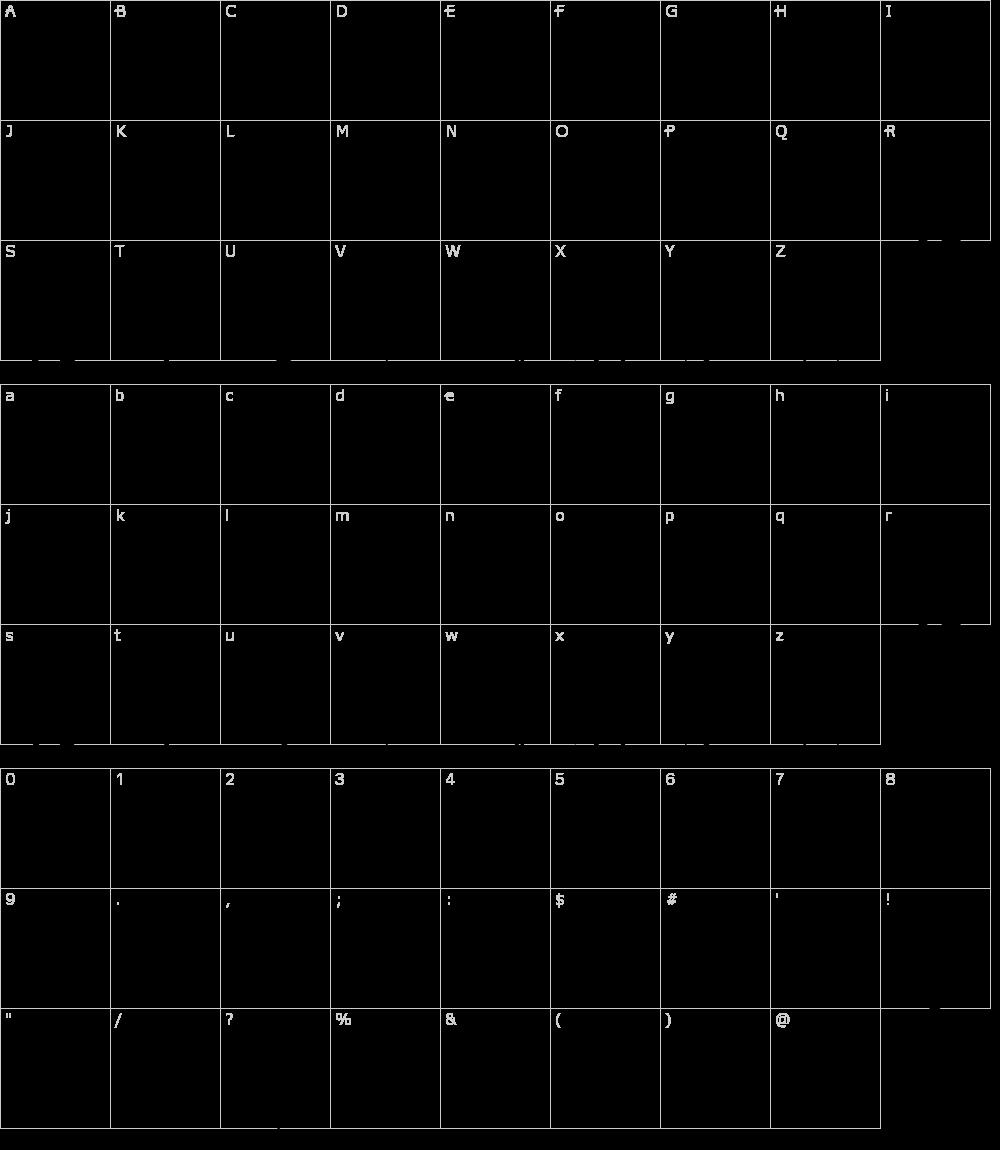 Caratteri del Font - VTKS Alcalina