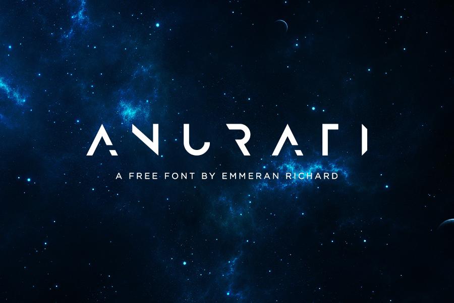 anurati free futuristic font