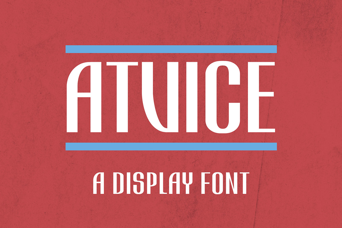 ATViCE – Free Display Font Poster A