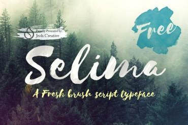 Selima – Free Brush Script Font