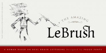 LeBrush – Brush Serif Font