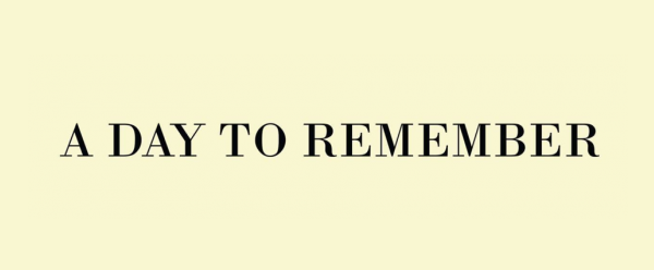 a day to remember logo font