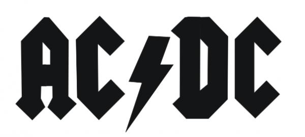 ac dc schrift