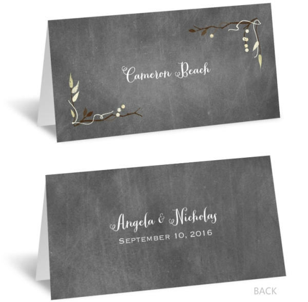 Chalkboard Autumn - Place Card