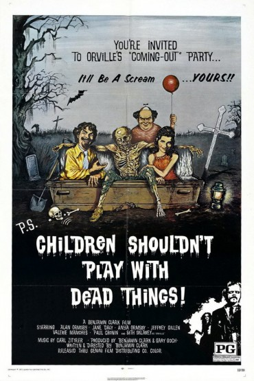 Children Shouldn't Play with Dead Things Font