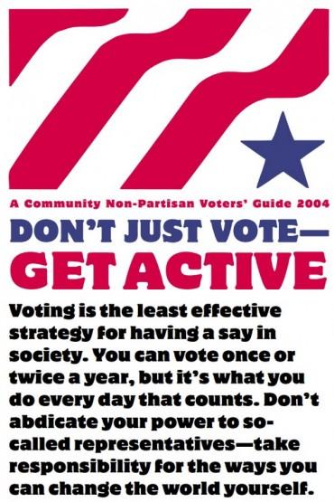 Don't Just Vote Get Active Font
