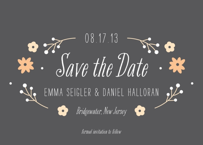FLOWER GARDEN SAVE THE DATE CARD