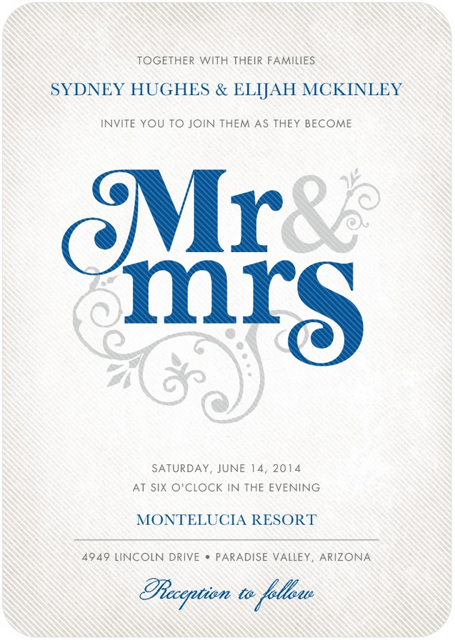 Flourish Title Wedding Invitation