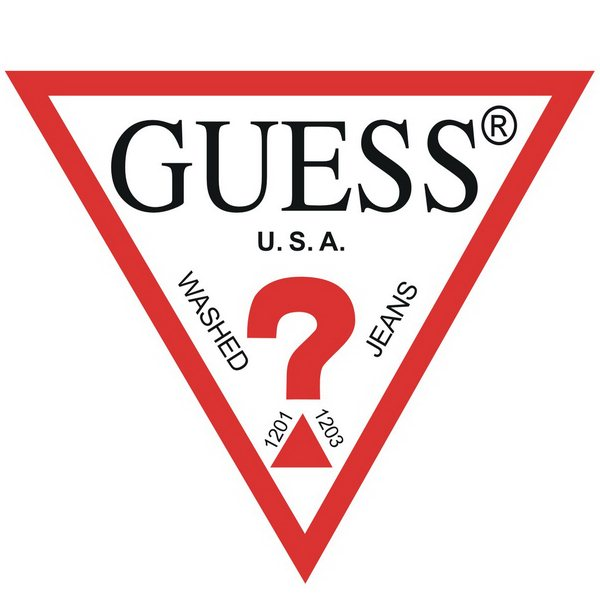 guess font and guess logo