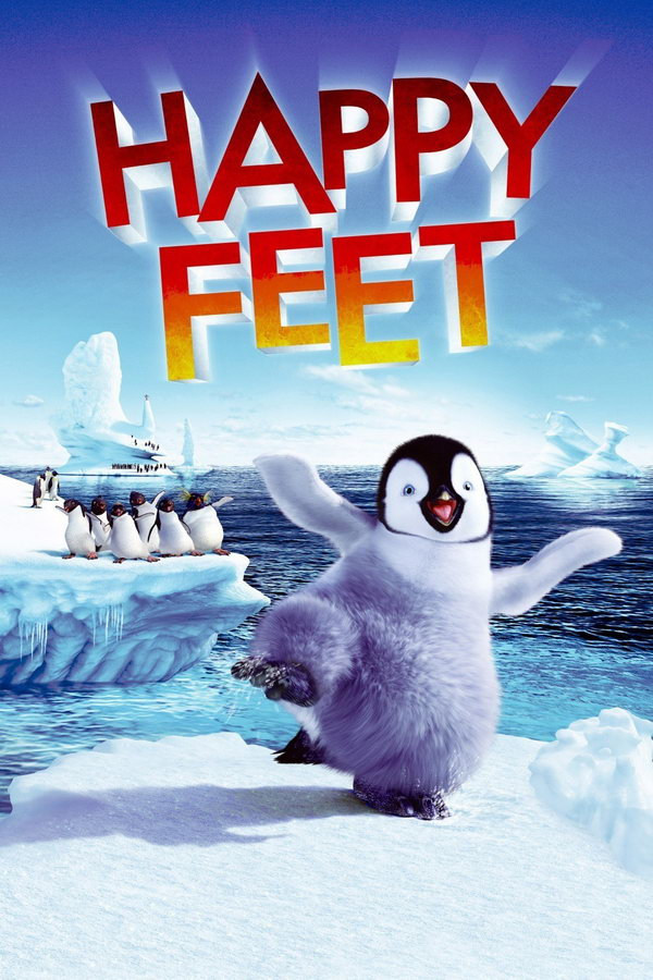 Happy Feet Poster happy feet font and happy feet poster