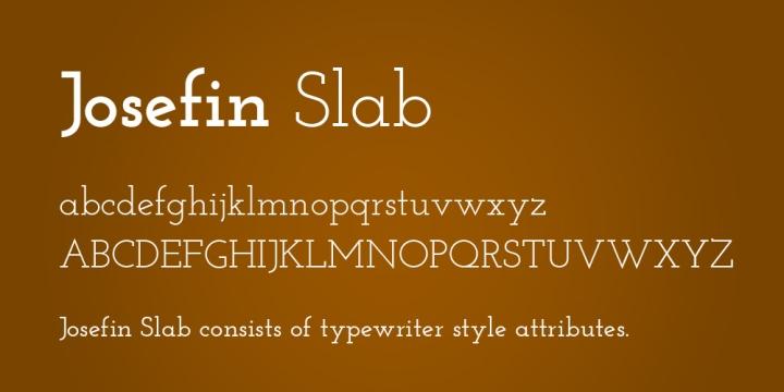 Josefin+Slab-font