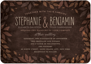 Leaves of Love Wedding Invitation Featuring LiebeErika Font