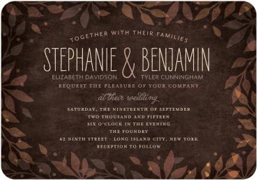 Leaves of Love Wedding Invitation Featuring LiebeErika Font