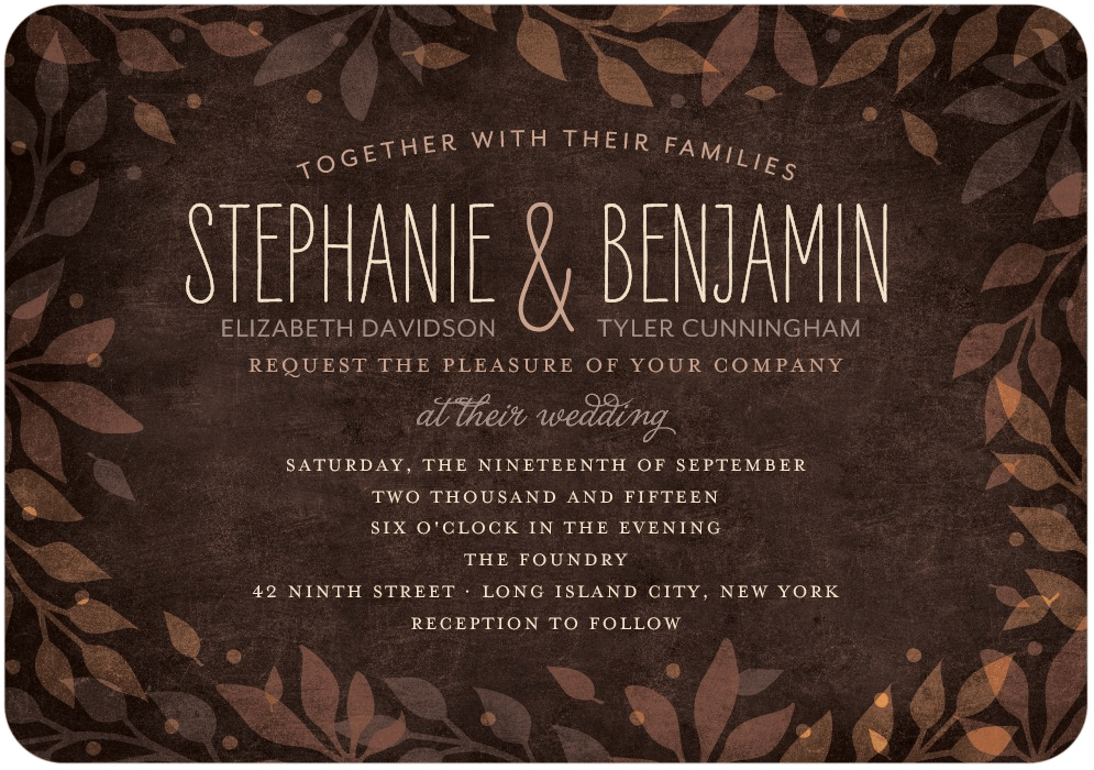 Leaves Of Love Wedding Invitation