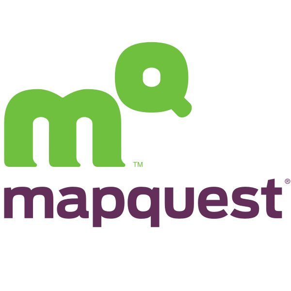 mapquest font and mapquest logo