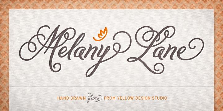 Melany-lane-font