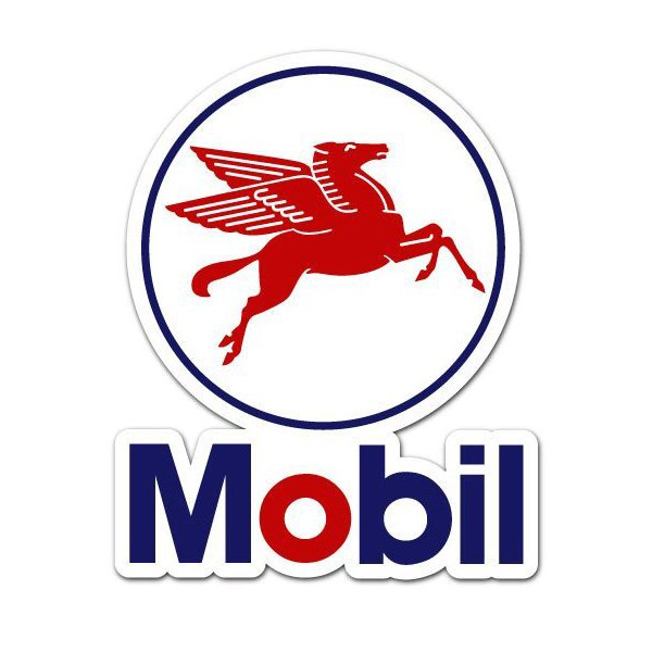 mobil font and mobil logo