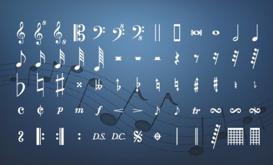 Musical Font And Musical Symbols