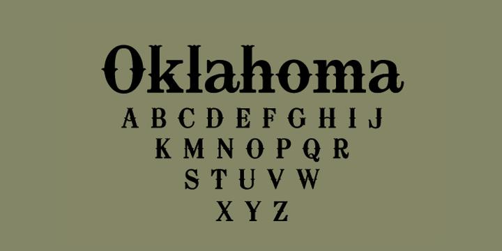 Oklahoma-font
