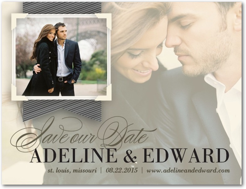 Opaque Dream Save The Date Featuring Poem Script Font – Save the Date Poems for Weddings