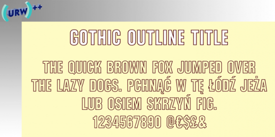 Outline Fonts - Outline Font Generator