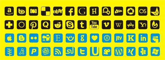 social media font and social media icon maker
