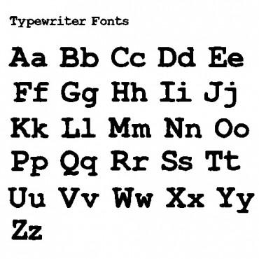 Fontes de máquina de escrever