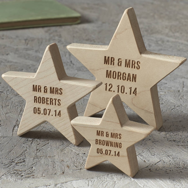 Wedding Keepsake Wooden Star