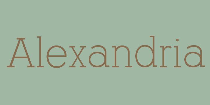 alexandriaflf-font