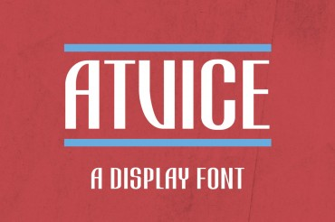 ATViCE – Free Display Font
