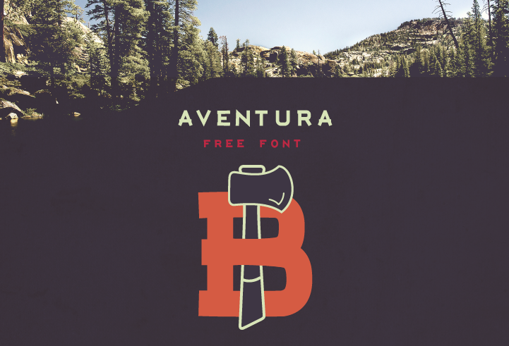 Aventura – Free Display Font Poster A