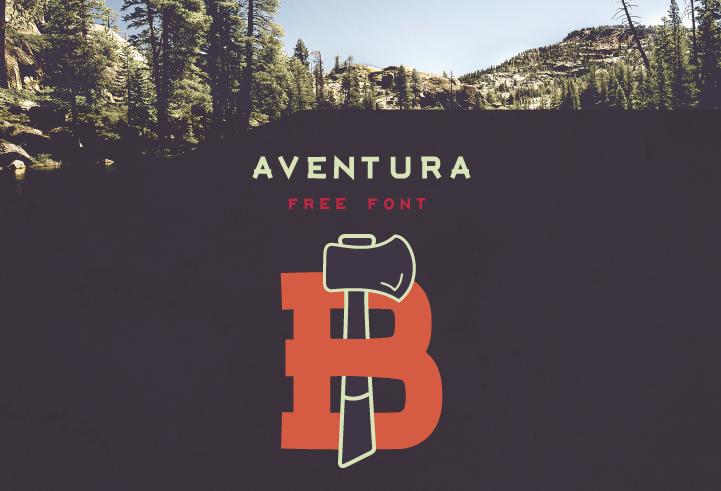 Aventura – Free Display Font Poster A