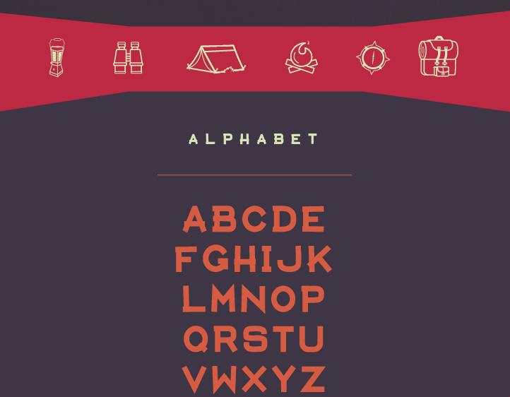 Aventura – Free Display Font Poster B