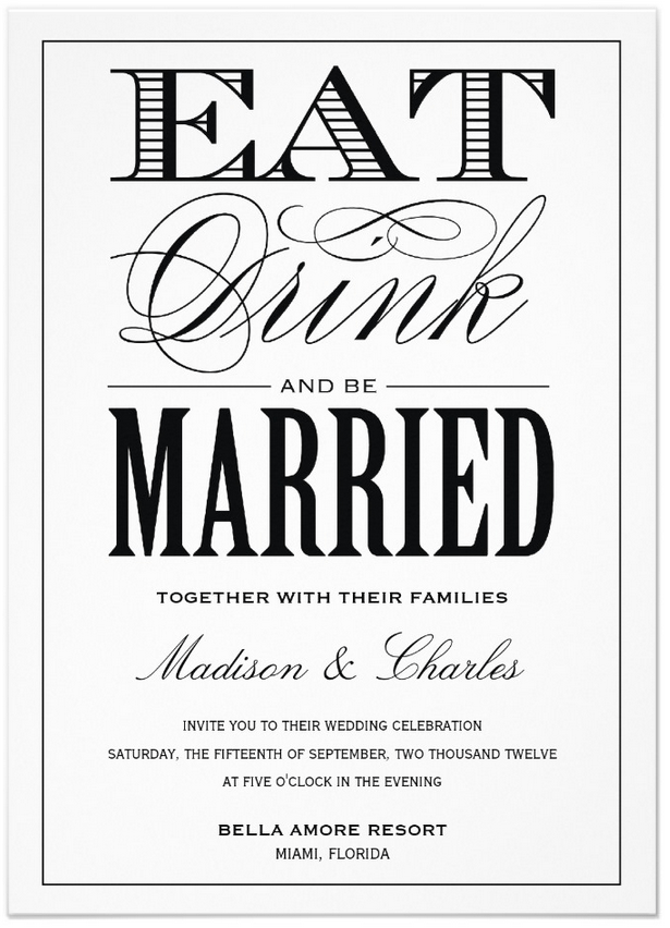 be married wedding invitation