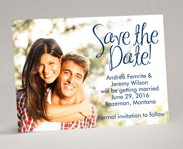 big announcement save the date magnet