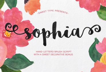 Sophia – Free Hand Lettered Script Font