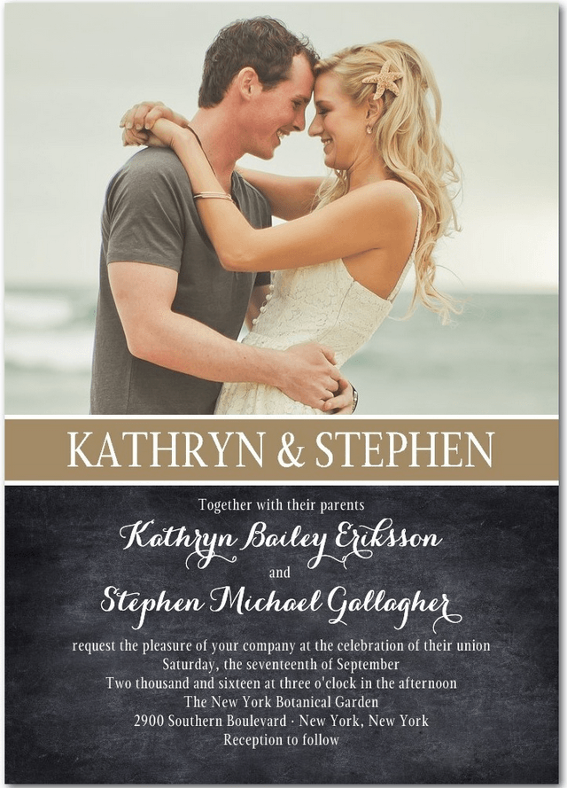 cherished wedding invitation