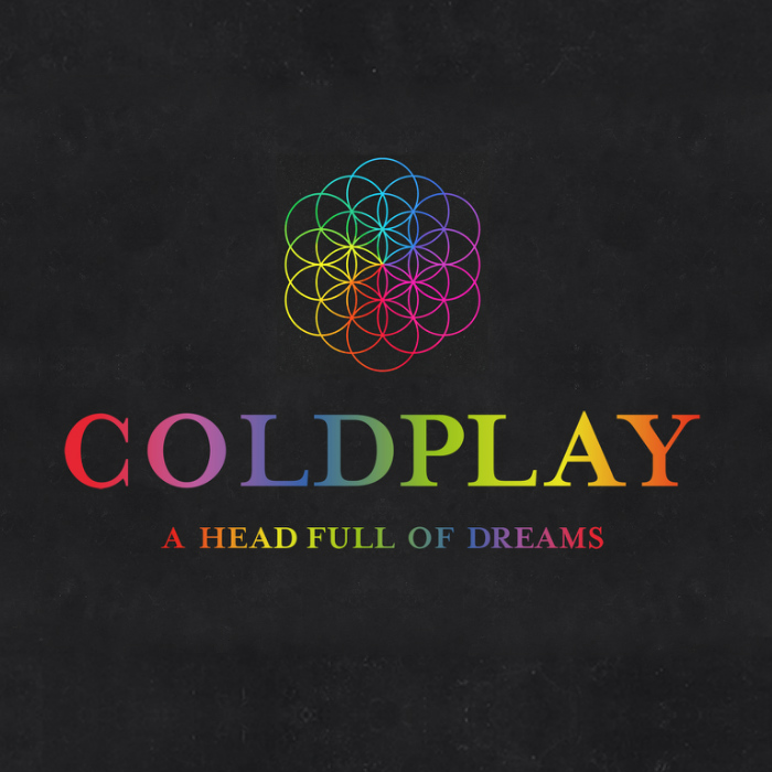 coldplay a head full of dreams font