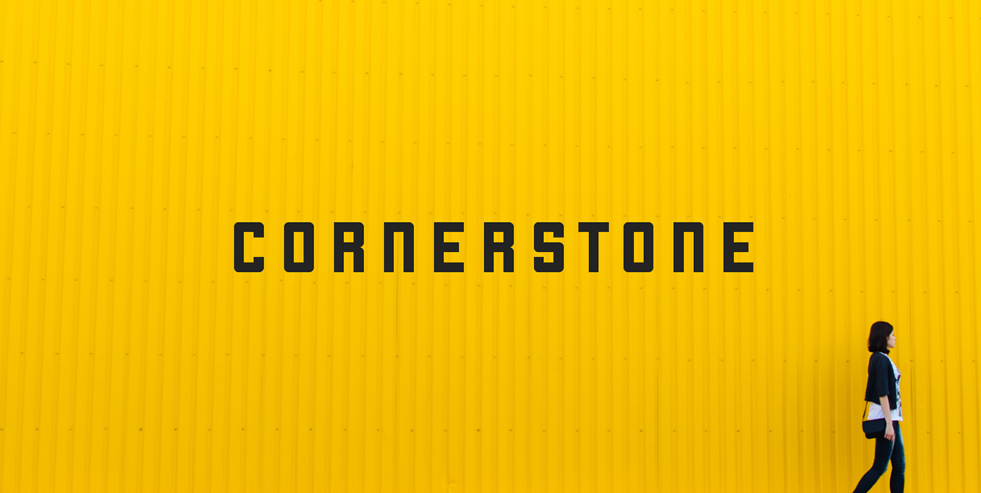 cornerstone font sample