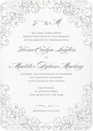 Wedding Scripts Fonts.Lace Wedding Invitation Featuring Burgues Script Font