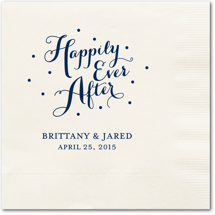 divine forever wedding napkins