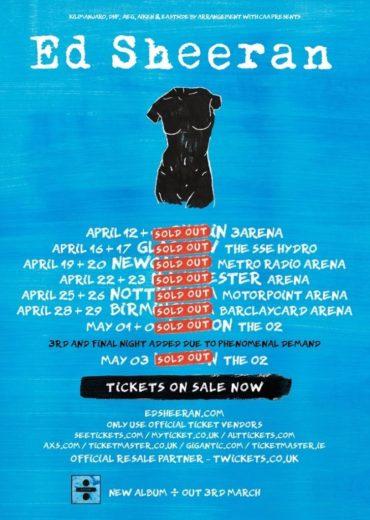 Ed Sheeran Tour Font