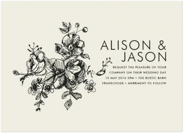Elegance Wedding Invitation Featuring Futura Font