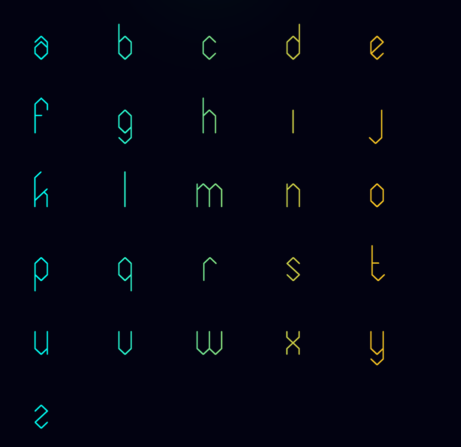 elixia font lowercase
