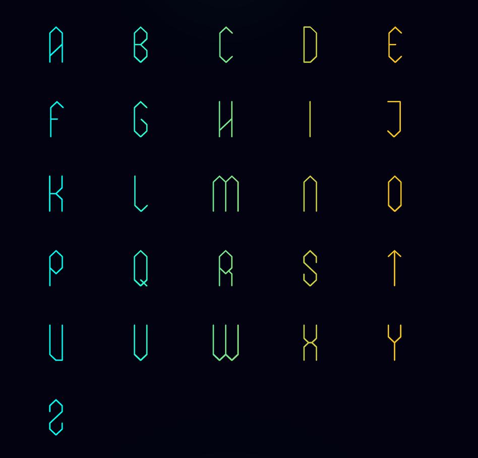 elixia font uppercase