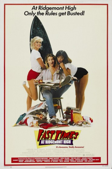 Fast Times at Ridgemont High Font